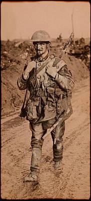 Doughboy Photograph - British Tommy World War One  1917 by Daniel Hagerman