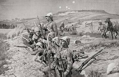 British Troops With Fixed Bayonets Art Print by Vintage Design Pics