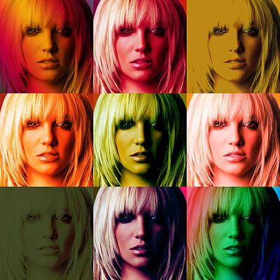 Britney Spears Bold Warhol By Gbs Art Print