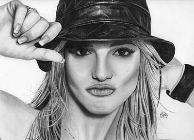 Britney Spears Art Print by Gil Fong