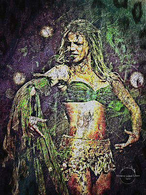 Digital Art - Britney Spears - In The Jungle by Absinthe Art By Michelle LeAnn Scott