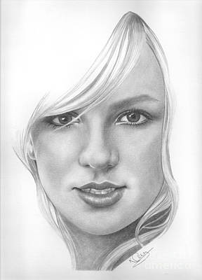 Drawing - Britney Spears by Karen Townsend