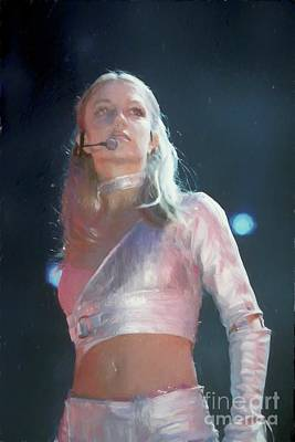 Painting - Britney Spears Painting by Concert Photos