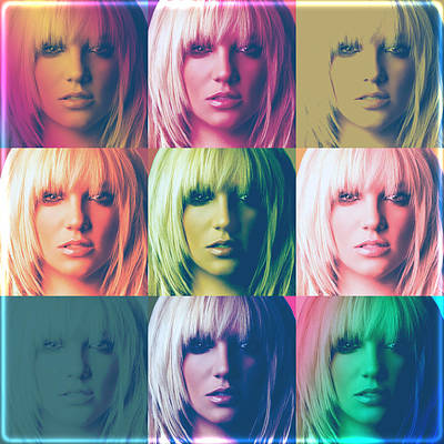 Britney Spears Pastel Warhol By Gbs Art Print