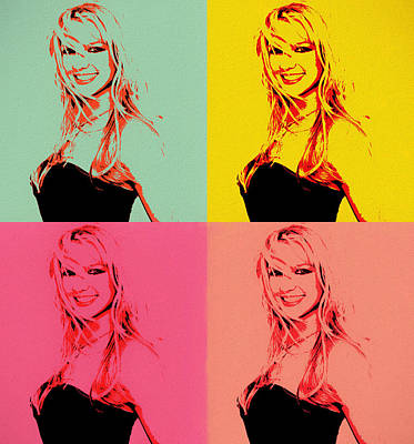 Mixed Media - Britney Spears Pop Art by Dan Sproul