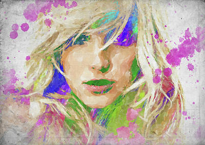 Photograph - Britney Spears Watercolor by Ricky Barnard