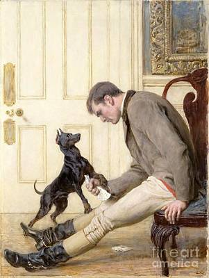 Briton Riviere Painting - Jilted by MotionAge Designs