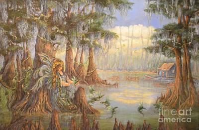 Louisiana Alligator Painting - Britt by Barbara Runyon Fregia