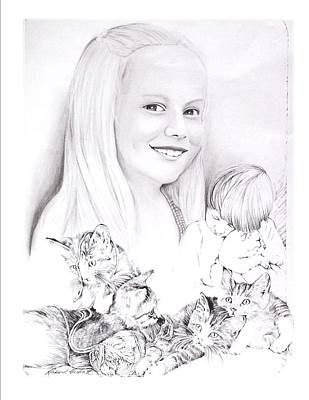 Graduation Gift Drawing - Britt by Terry Groehler
