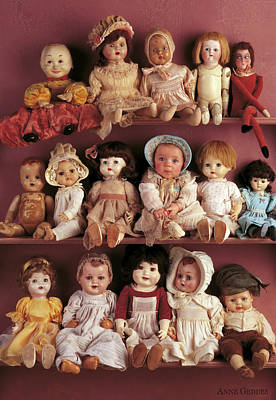 Dolls Wall Art - Photograph - Brittany And Antique Dolls by Anne Geddes