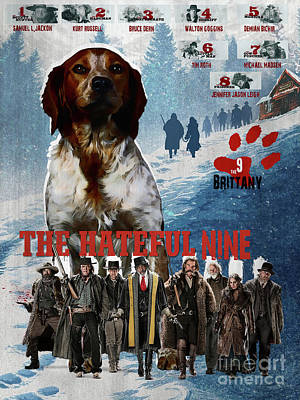 Painting - Brittany Art Canvas Print -  The Hateful Eight Movie Poster  by Sandra Sij