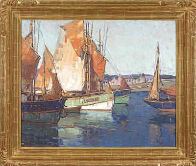 Edgar Payne Painting - Brittany Boats by Edgar Payne