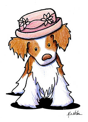 Spaniel Drawing - Brittany Girl by Kim Niles