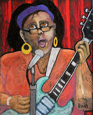 Portrait Drawing - Brittany Howard by David Hinds