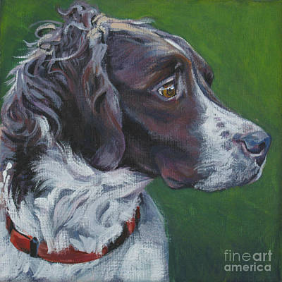 White Dog Painting - Brittany by Lee Ann Shepard