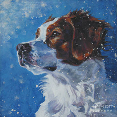 Painting - Brittany Spaniel Head Study by Lee Ann Shepard