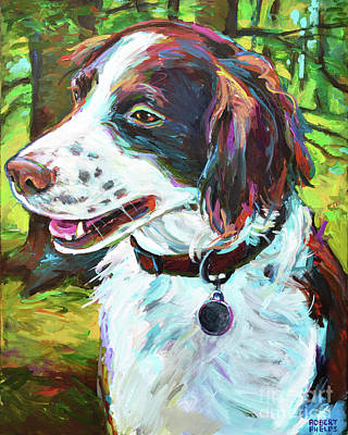 Painting - Brittany Spaniel by Robert Phelps