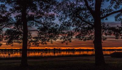 Photograph - Brittlebank Park Silhouette - Charleston Sc by Donnie Whitaker