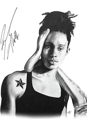 Drawing - Brittney Griner Taboo 2 by Devin Millington