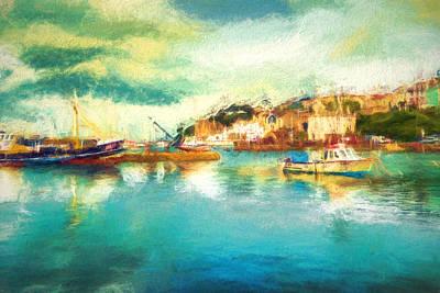 Devon Mixed Media - Brixham Bay by Sharon Lisa Clarke