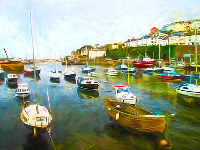 Brixham Harbour Painting - Brixham In Paint by Sharon Lisa Clarke