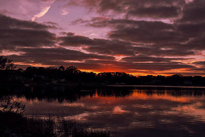Photograph - Broad Bay Sunset  I by Pete Federico