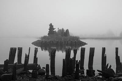 Photograph - Broad Cove Inlet II Bw by David Gordon