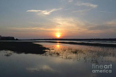 Art Print featuring the photograph Broad Creek Sunset by Carol  Bradley