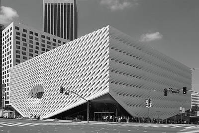 Photograph - Broad Museum Los Angeles In Black And White by Ram Vasudev