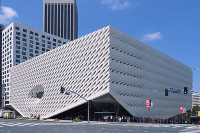 Photograph - Broad Museum Los Angeles by Ram Vasudev