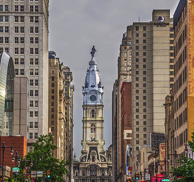City Hall Digital Art - Broad Street And City Hall Philadelphia by Bill Cannon