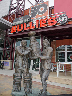 Street Hockey Digital Art - Broad Street Bullies Pub - Clarke And Parant by Bill Cannon