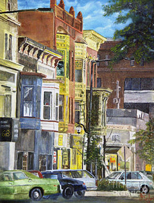 Painting - Broad Street by CJ  Rider