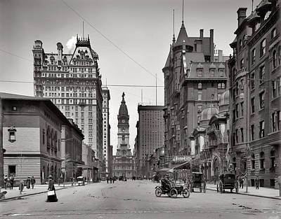 Phillies Digital Art - Broad Street Philadelphia 1905 by Bill Cannon