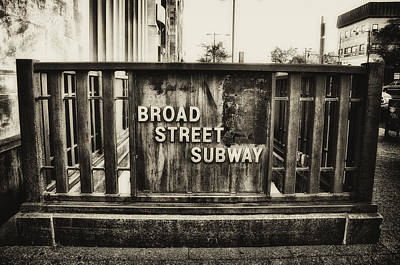 Broad Street Subway - Philadelphia Print by Bill Cannon