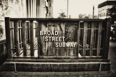 Broad Street Digital Art - Broad Street Subway - Philadelphia by Bill Cannon