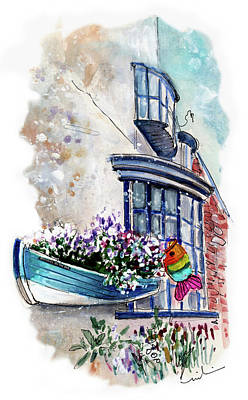 Broadies By The Sea In Staithes Art Print