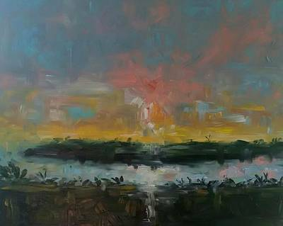 Lake Low Country Painting - Broadmarsh Afternoon  by Tommy Beaver
