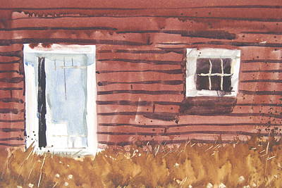 Painting - Broadside Barnside Study by Len Stomski