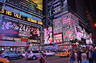 Photograph - Broadway And 42nd Street  # 1  by Allen Beatty