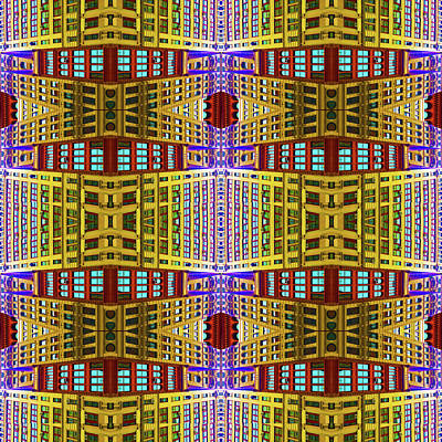 Abstract Skyline Mixed Media - Broadway And Astor by Tony Rubino
