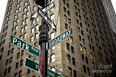 Photograph - Broadway And Park Row by John Rizzuto