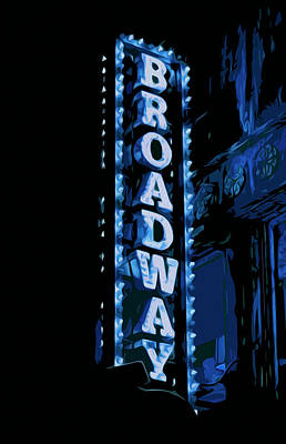 Painting - Broadway At Night by Andrea Mazzocchetti