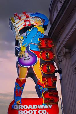 Broadway Boot Co. Sign, Nashville, Tennessee Art Print by Art Spectrum