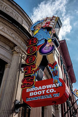 Photograph - Broadway Boot Co. by Stefanie Silva
