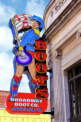 Photograph - Broadway Boots Nashville by Chris Smith