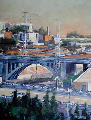 Broadway Bridge Art Print by Richard  Willson