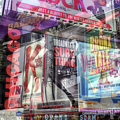 Photograph - Broadway Double Exposure by John Rizzuto
