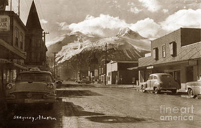 Photograph - Broadway In Skagway Alaska Street Scene Circa 1957 by California Views Archives Mr Pat Hathaway Archives