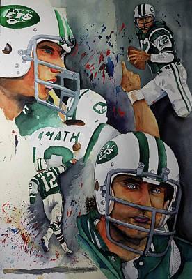 New York Jets Painting - Broadway Joe by Smitty